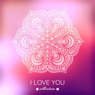Vector Valentine's Day background Blurred template holiday In N5