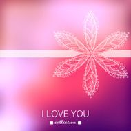 Vector Valentine's Day background Blurred template holiday In N6