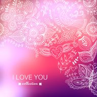 Vector Valentine's Day background Blurred template holiday In N8