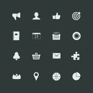 set of vector universal icons N6