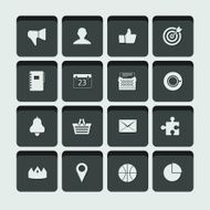 set of vector universal icons N7