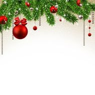 Christmas background with fir branches and balls N24