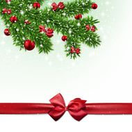 Christmas background with fir branches and balls N25