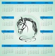 New year calendar vector illustration