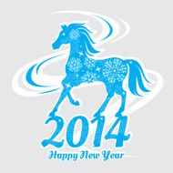 Year of the horse card N6