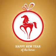 Year of the horse greeting card N2