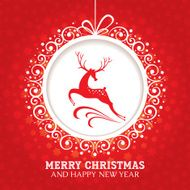 Christmas greeting card with deer N2