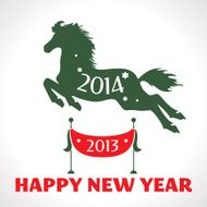 New year greeting card with horse N2