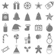 Christmas icons on white background N2