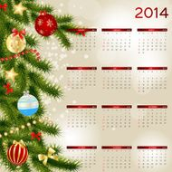vector illustration 2014 new year calendar N57