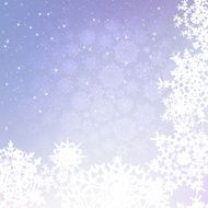 Christmas background with snowflakes EPS 8 N8