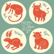 Set signs of the Chinese zodiac N9