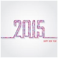 Creative happy new year 2015 text Design N19