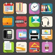 Business flat icons set N6