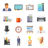 Office Icons Flat Set N3