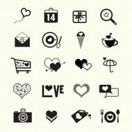 Valentine day love icons