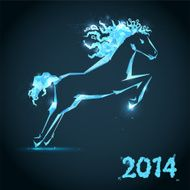 Horse New year card