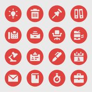 Office work icons - Bold Circle