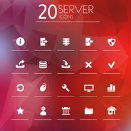 Simple thin server icons
