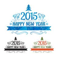 Happy new year 2015 Text Design N9
