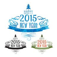 Happy new year 2015 Text Design N10