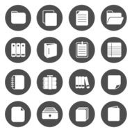 Document Circle Icons