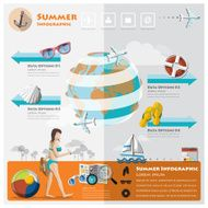 Summer And Travel Vacation Infographic
