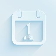 Vector calendar apps icon for 1 april Fool's day