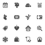 set of christmas icons N10