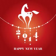 new year card with horse N3