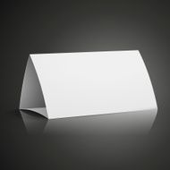 modern 3d blank white paper table card N3