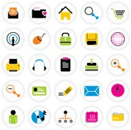 Colorful Icon Set Internet
