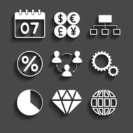 simple set of business icons N2
