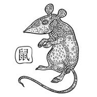 Rat Chinese Zodiac Animal astrological sign N3