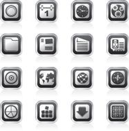 Mobile Phone Computer and Internet Icons N4