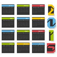 Yearly 2015 calendar design N6