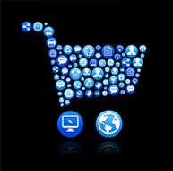 Shopping Cart royalty-free vector Social Networking and Internet Icon Set