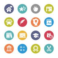 Education Icons - Circle Series
