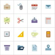 Office Supply Icons 2 — Poly Series