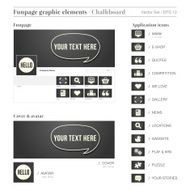 SOCIAL MEDIA FUNPAGE ELEMENTS chalkboard