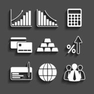 simple set of business icons N3