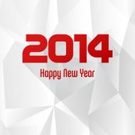 vector 2014 new year greeting card with seamless abstract background N2