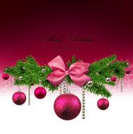Christmas background with fir branches and balls N34