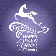 New year greeting card with horse N3