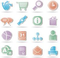 WebSite Internet and navigation Icons