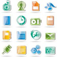 Mobile Phone Performance Business and Office Icon