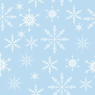 Seamless Snowflakes Background Vector Illustration N7