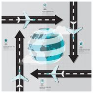 Travel And Journey Runway Business Infographic N3