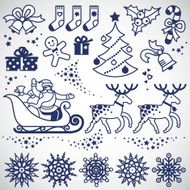 Set of christmas vector elements N4