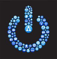 Power Button royalty-free vector Social Networking and Internet Icon Set N2